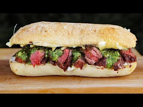 SKIRT STEAK SANDWICH With Arugula Pesto Best Sandwich Ever By Customgrill