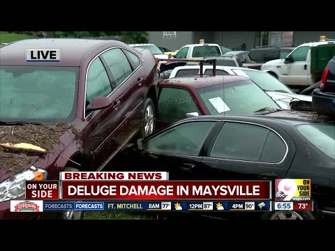 Heavy rain floods part of Maysville, Kentucky