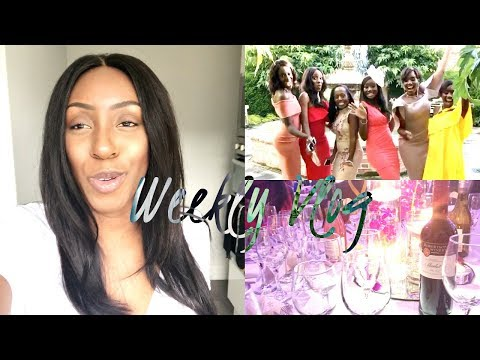 VLOG | I'M NEVER DRINKING AGAIN?! COME TO A WEDDING WITH ME & MY FIRST BRAZILLIAN WEAVE