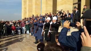 Anıtkabir  Asker .Nöbet değişimi. Atatürk Vatandaş Anıtkabir'de. Ankara