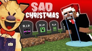 Monster School: SAD CHRISTMAS with Ice Scream (RIP Students): @Monster Crafters
