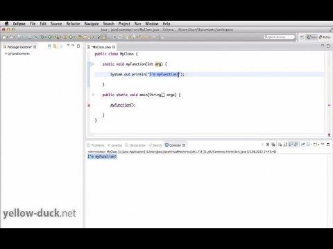 Функции (методы) в Java. Параметры, вызов и переопределение методов.