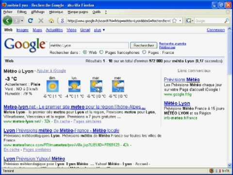 Consultez la météo sur Google.fr