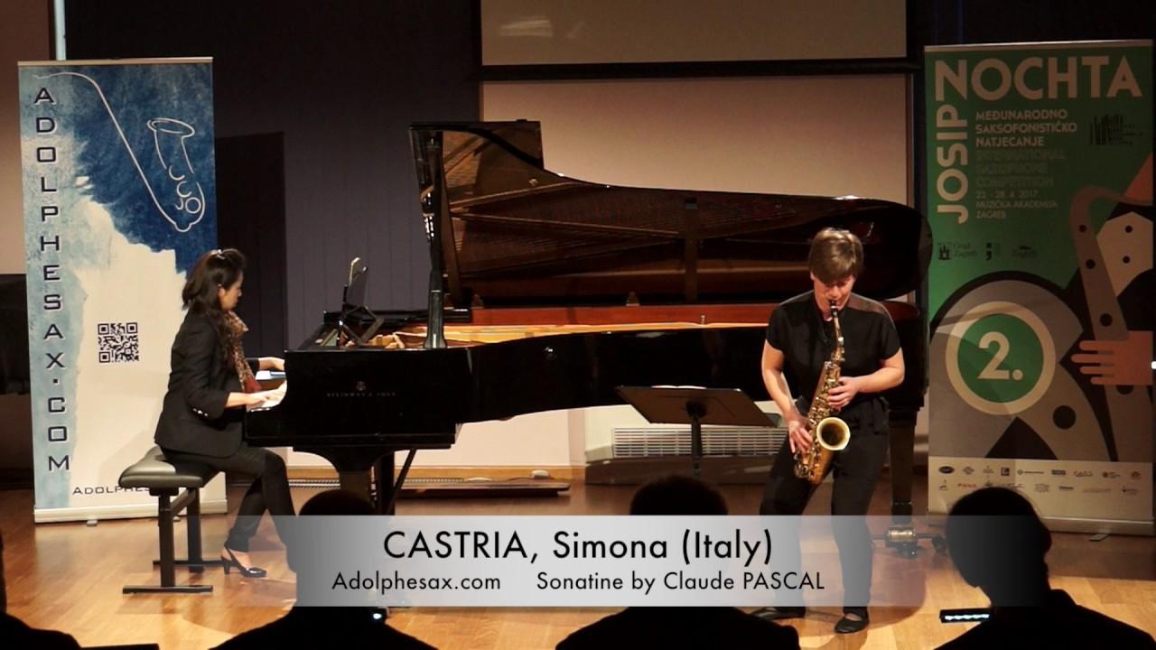 Sonatine by Claude PASCAL – CASTRIA, Simona (Italy)