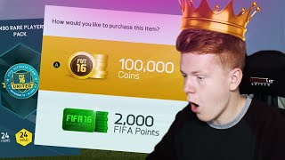 FIFA 16 - 10 X THE FIRST EVER 100K PACKS!! OVER 1 MILLION COINS SPENT!!