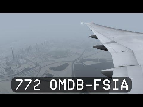 Prepar3d V4 - PMDG 777 Emirates - OMDB (Dubai) to FSIA (Seychelles)