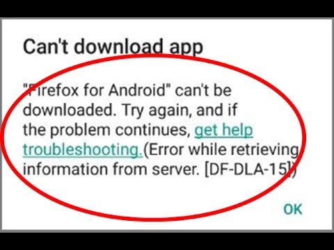 Fix Error while retrieving information from server[DF-DLA-15]|Google play store