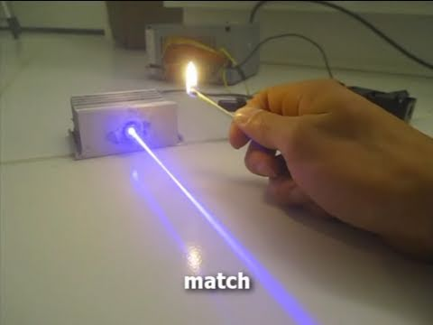 Ridiculously Powerful Near UV Laser Burning Stuff! Class IV @ 405nm