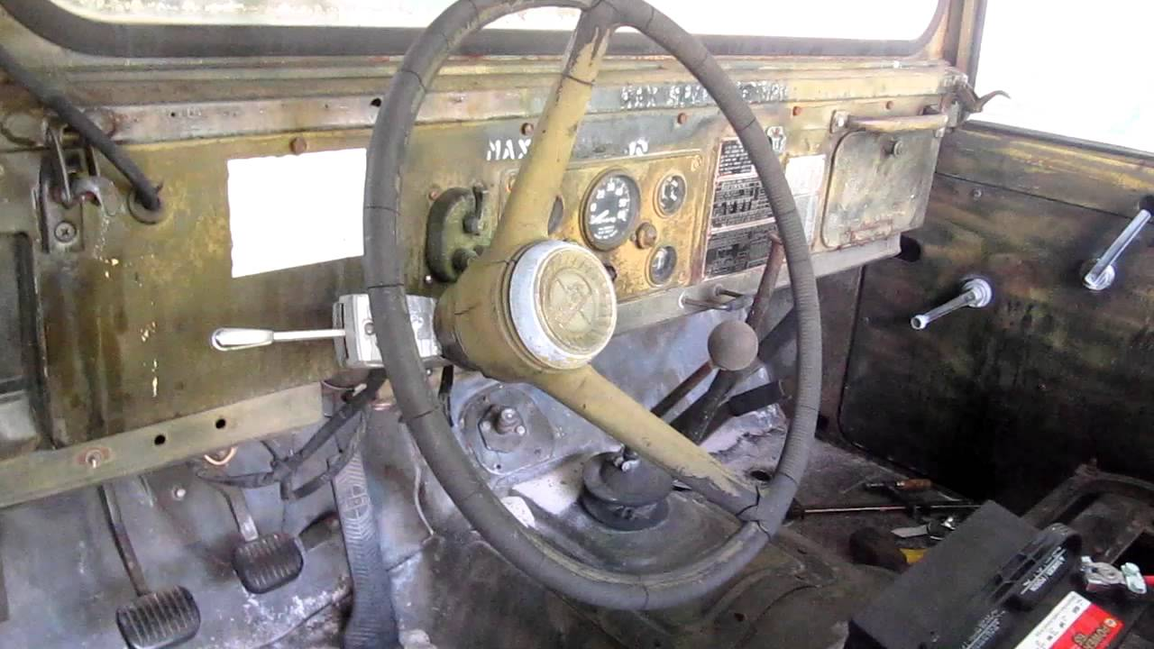 Military Jeep Parts >> Starting 1967 Kaiser JEEP M715 - YouTube