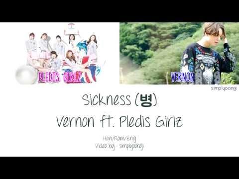 Vernon - SEVENTEEN [세븐틴] ft. Pledis Girlz - Sickness [병] (Color Coded Lyrics | Han/Rom/Eng)