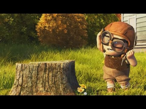 """(Slow Motion) Young Carl Fredricksen and stump - """"Up ...Young Carl And Ellie Disneybound"""