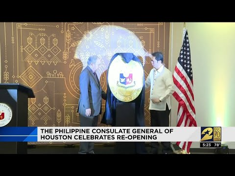 The Philippine Consulate General Of Houston Celebrates Re-opening