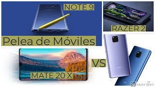 Video Note 9 vs Mate 20 X vs Razer 2 - Cual es mejor?