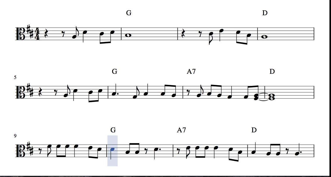 I Wanna Wish You a Merry Christmas Sheet Music for Viola in C clef ...