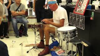 Han Bennink in store live at Disk UNION Tokyo 30th Aug 2014