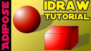 iDraw Tutorial #3 - Gradients, 3D objects, Node Selection
