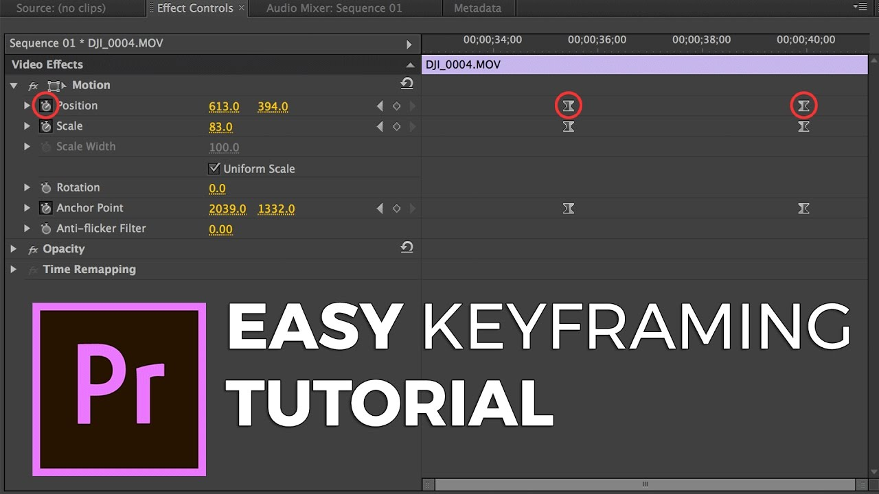 EASY Keyframing Tutorial: How to key frame in Adobe Premiere - YouTube