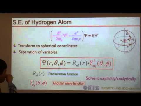 Hydrogen atom (part 1): wavefunctions, probability, nodes and quantum numbers