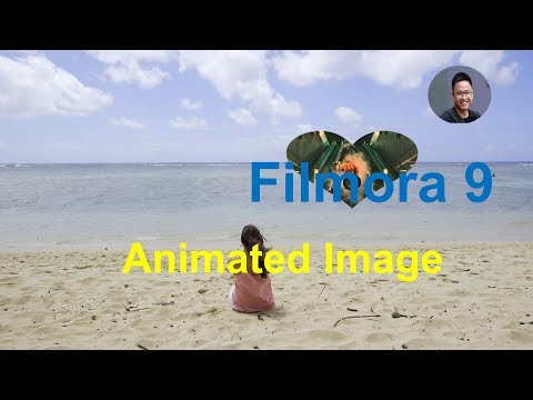 How to add ANIMATED IMAGE to Video Using Filmora 9