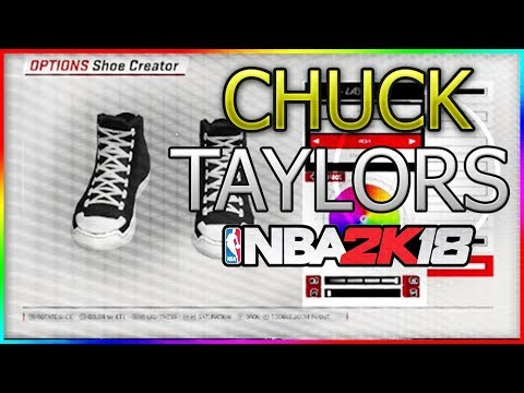 966ab5c8a6de5d Shoe Creator how to make converses😱 NBA 2K18 - YouTube