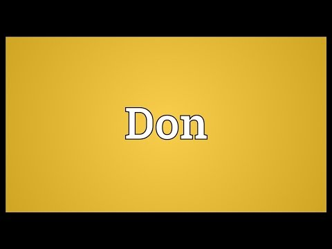 Don Meaning