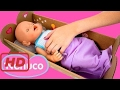 [Play Doh Cake] Nenuco Eco Play Crib Baby Doll Sleep With Me Cuna Bebés How To Sleep a Baby Doll Cr