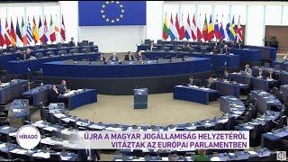 Újra a magyar jogállamiság helyzetéről vitáztak az Európai Parlamentben