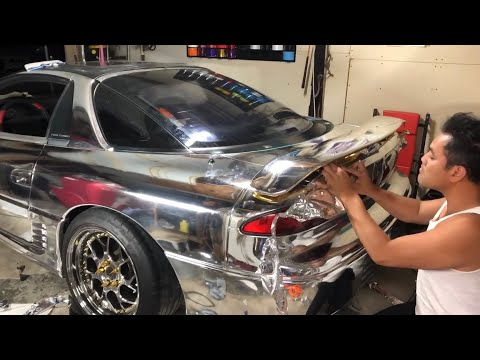 3000GT VR4 Crazy Chrome DIY Wrap Part 2!