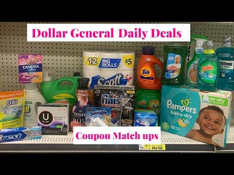 DOLLAR GENERAL DAILY DEALS & COUPON MATCH UPS || BUDGET BOSS COUPONS