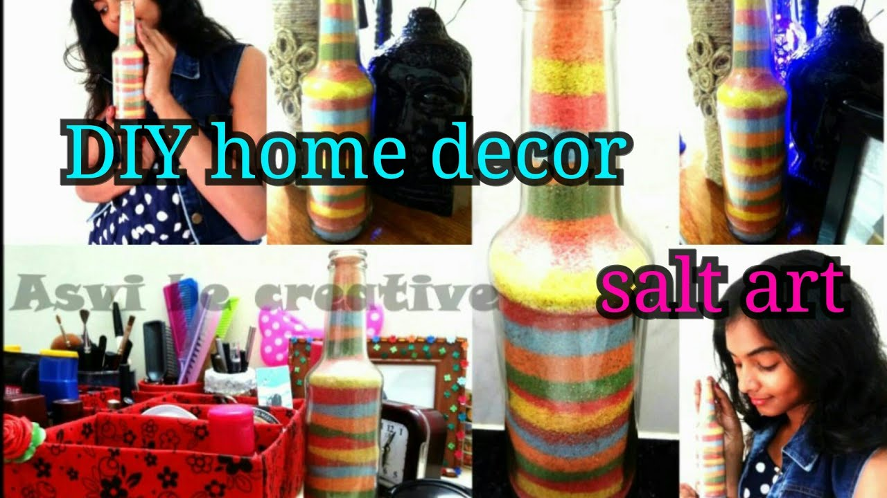 Sand Art Diy Colored Salt Made With Pastel Colours Glass Bottle