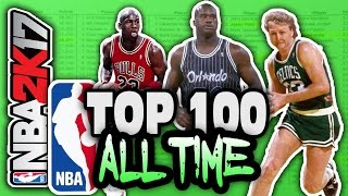 Top 100 nba players of all time! nba 2k17 squad builder
