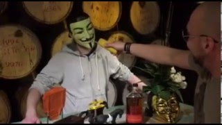 AnonymouS Bar AnonymouS TV reports from Warehouse1 with KBC cocktail and the Bulleit Frontier whiskey.