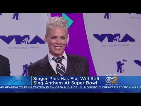 Singer Pink Has Flu, Will Still Sing National Anthem At Super Bowl