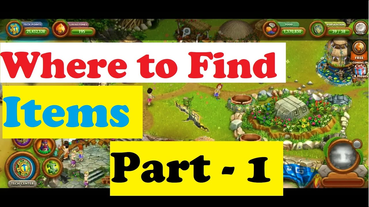 Where to Find / Gather Items Part-1 : Virtual Villagers Origins 2 VV2