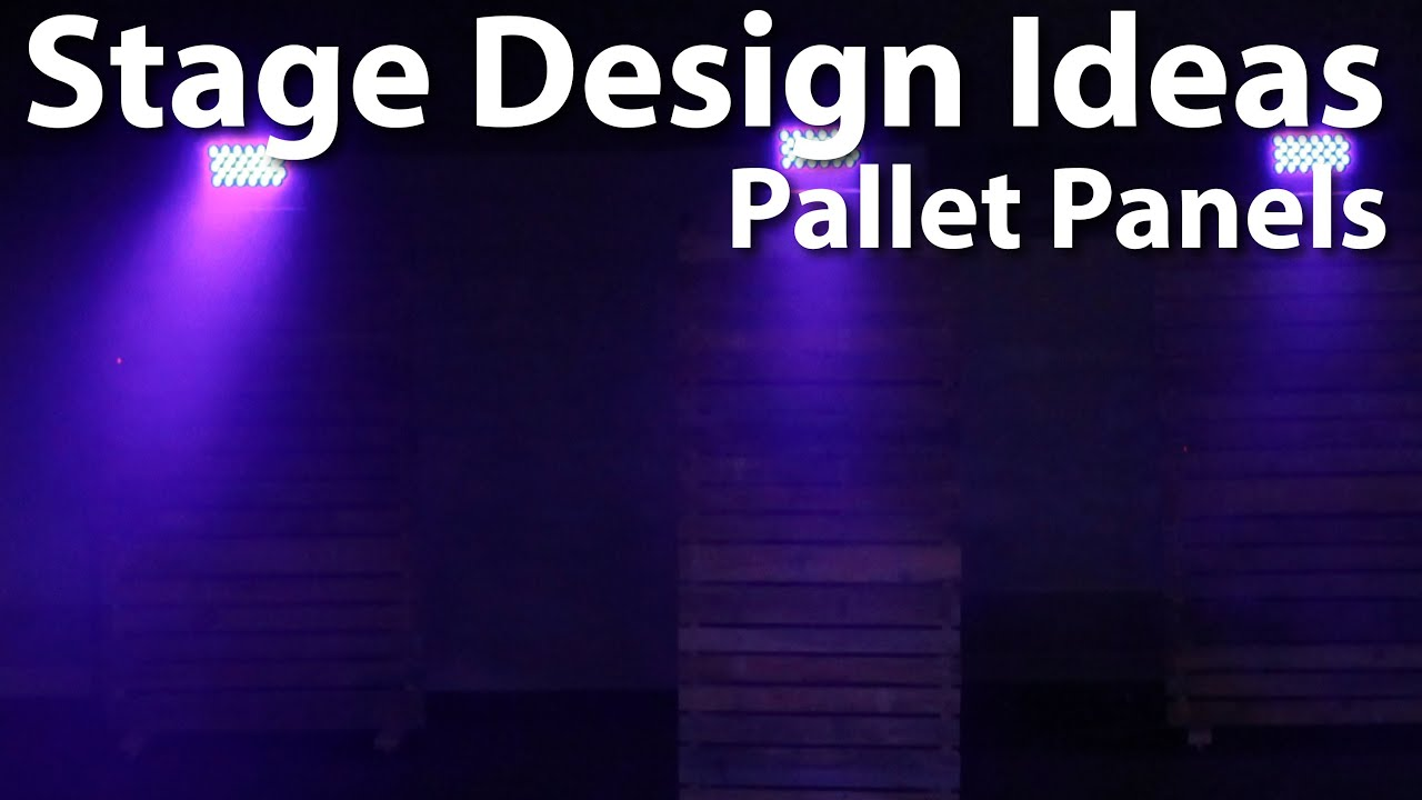church stage design pallet panels - Small Church Stage Design Ideas