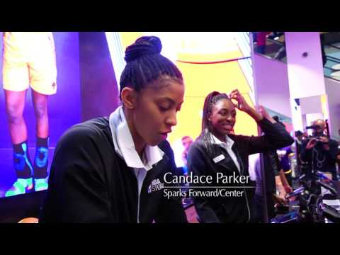 Nneka Ogwumike & Candace Parker Visit NBA Store