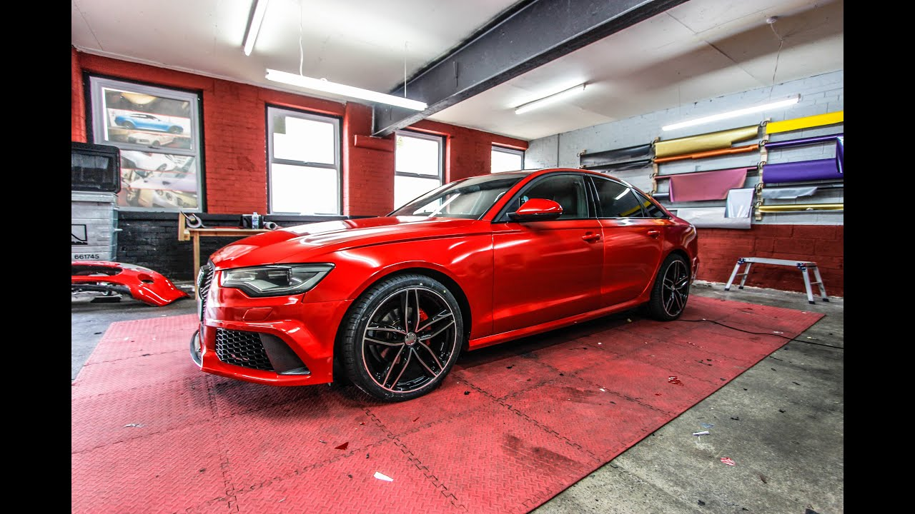 Audi A6 Rs6 Saloon Candy Red Wrap Youtube