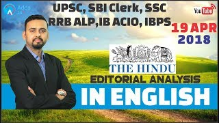 The Hindu Editorial Analysis (In English) | 19t...