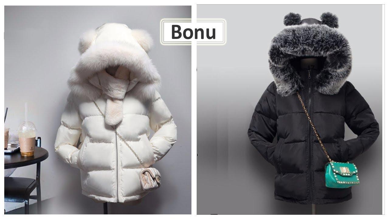 куртка парка женская зимняя с мехом купить - YouTube