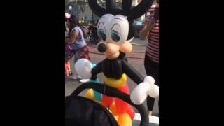 Cute & Unique Mickey Mouse Balloon at Disneyland!