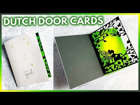 DIY Dutch Door Tutorial For Paper Crafts
