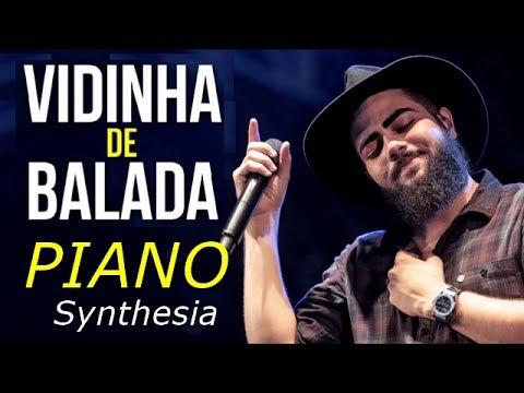 Henrique e Juliano - Vidinha de Balada  Piano e Teclado Tutorial  Synthesia