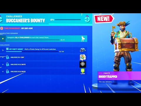 *NEW* BUCCANEER'S BOUNTY CHALLENGES in Fortnite! thumbnail