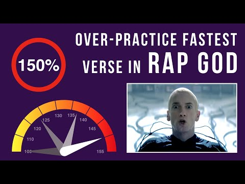 Let's Practice! Eminem's Fastest Verse In 'Rap God' (Over-Practicing Mode, 150% speed)