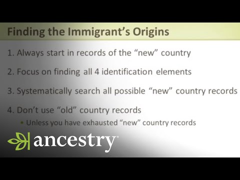 Discovering the Immigrants in Your Family Tree