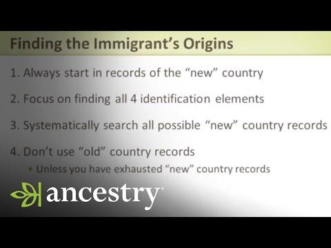 Work - Genealogy - Ancestry - Immigration