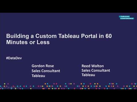 How to build a Tableau portal in 60 minutes or less - YouTube