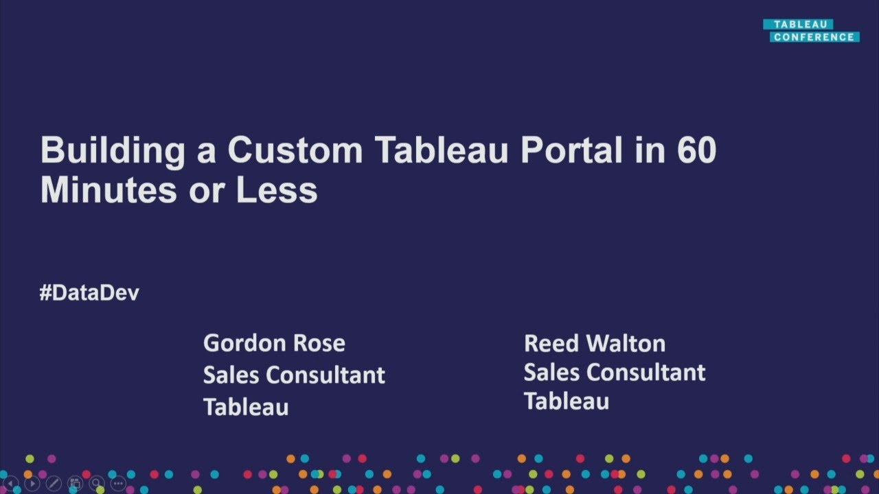 How to build a Tableau portal in 60 minutes or less