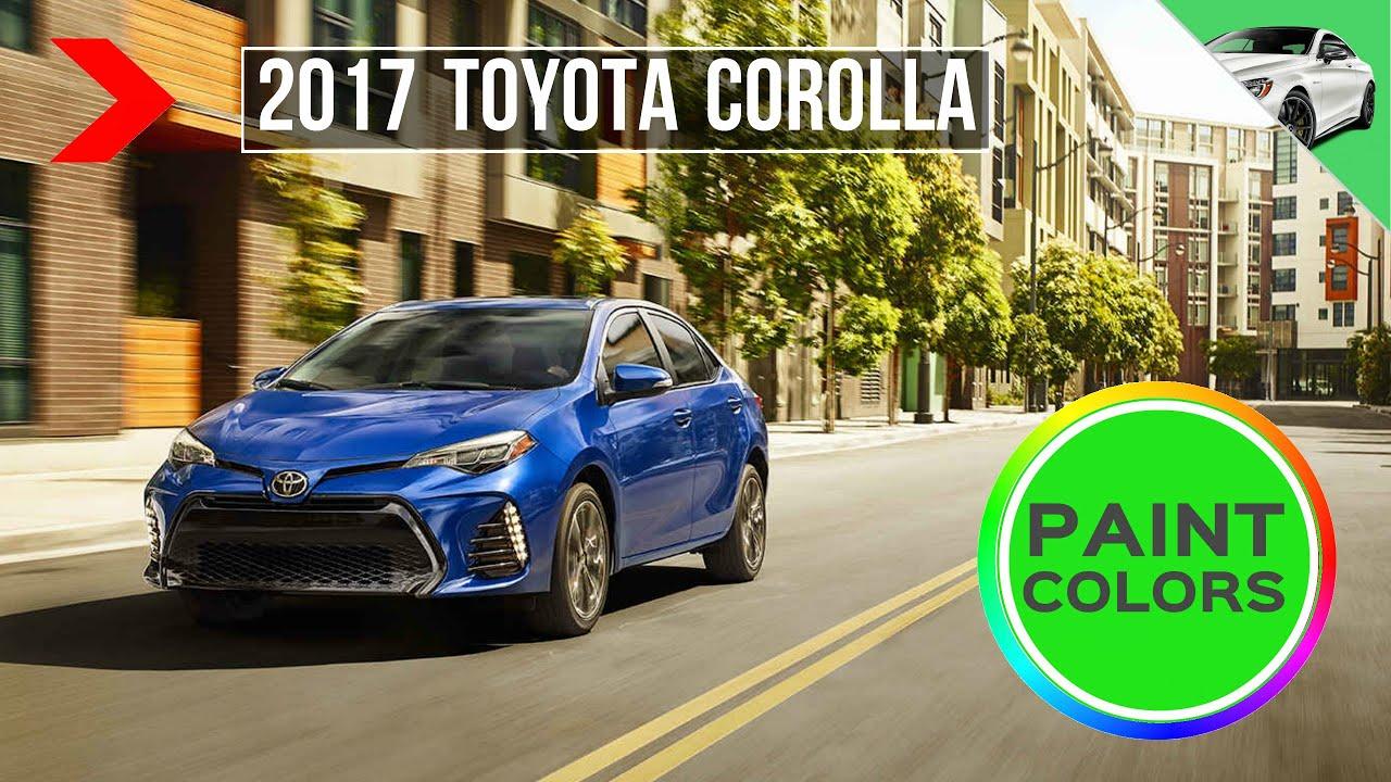 2017 Toyota Corolla Paint Colors