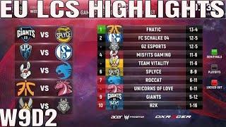 EU LCS Highlights ALL GAMES Week 9 Day 2 Full Day Highlights Summer 2018 W9D2